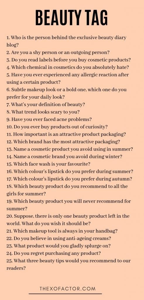 beauty tag questions