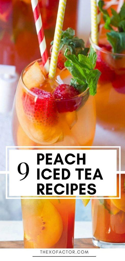 peach iced tea recipes