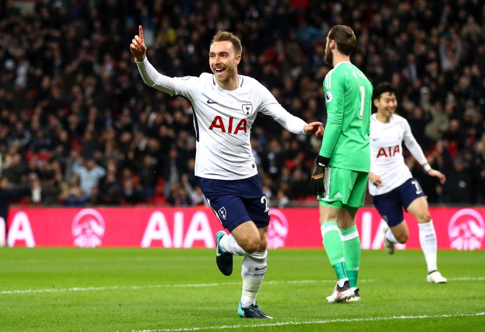 Tottenham defeat United 2-0 at Wembley