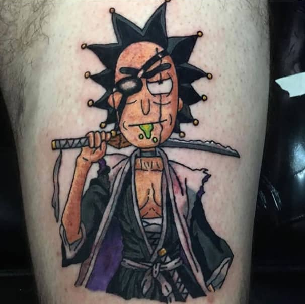 rick and morty tattoos