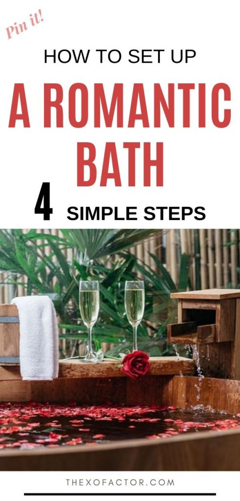 how to set up a romantic bath