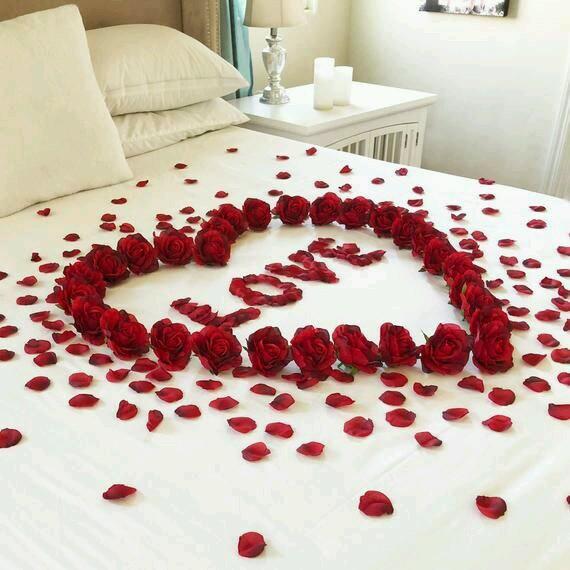 romantic bedroom setup on a budget
