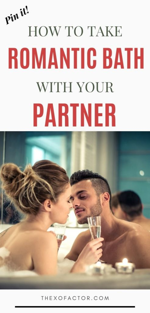 how to take romantic bath with your partner