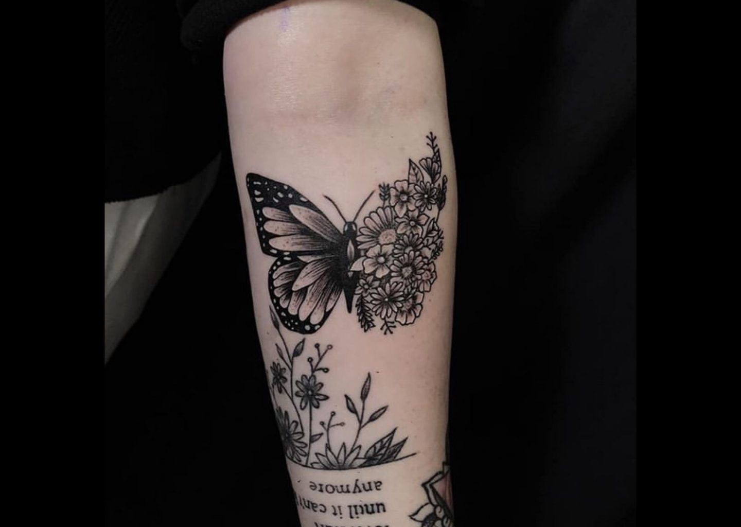 imaginative butterfly tattoo