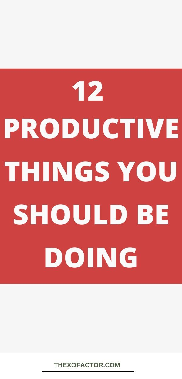 productive things to do with your life