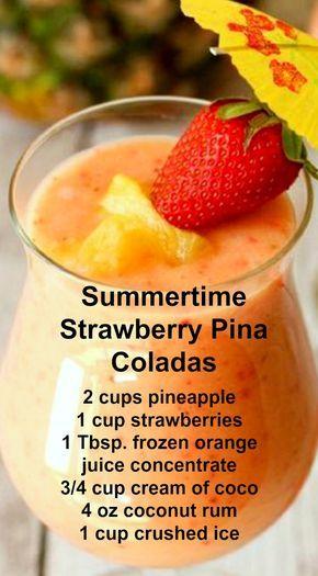 strawberry pina colada recipes
