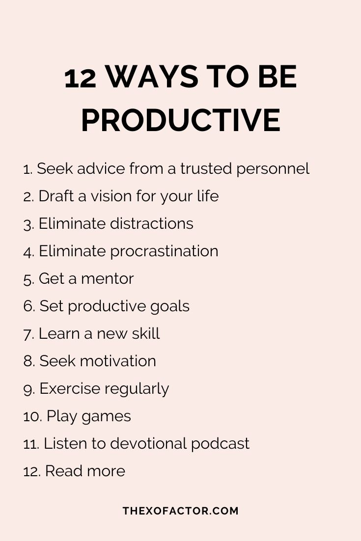 12 ways to be productive in life