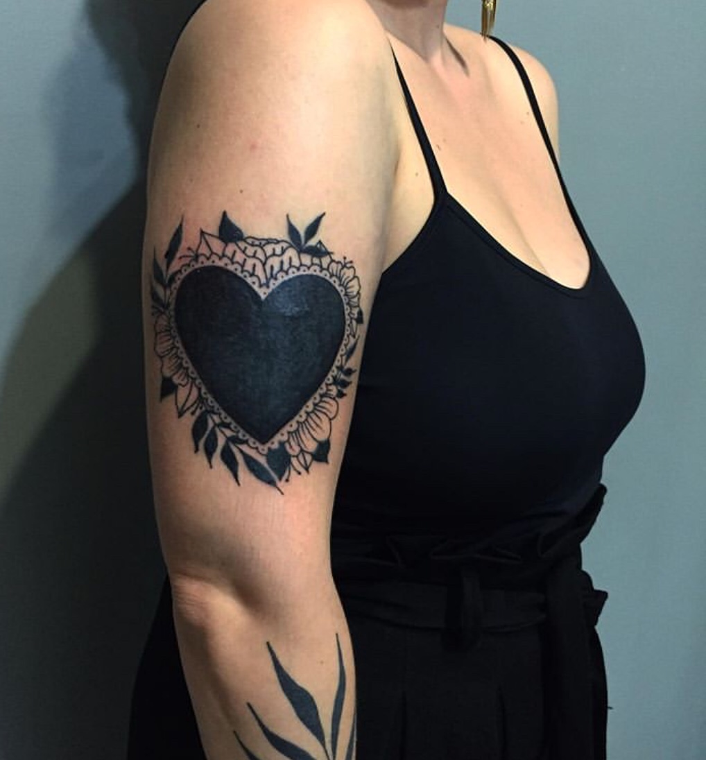 black heart tattoo