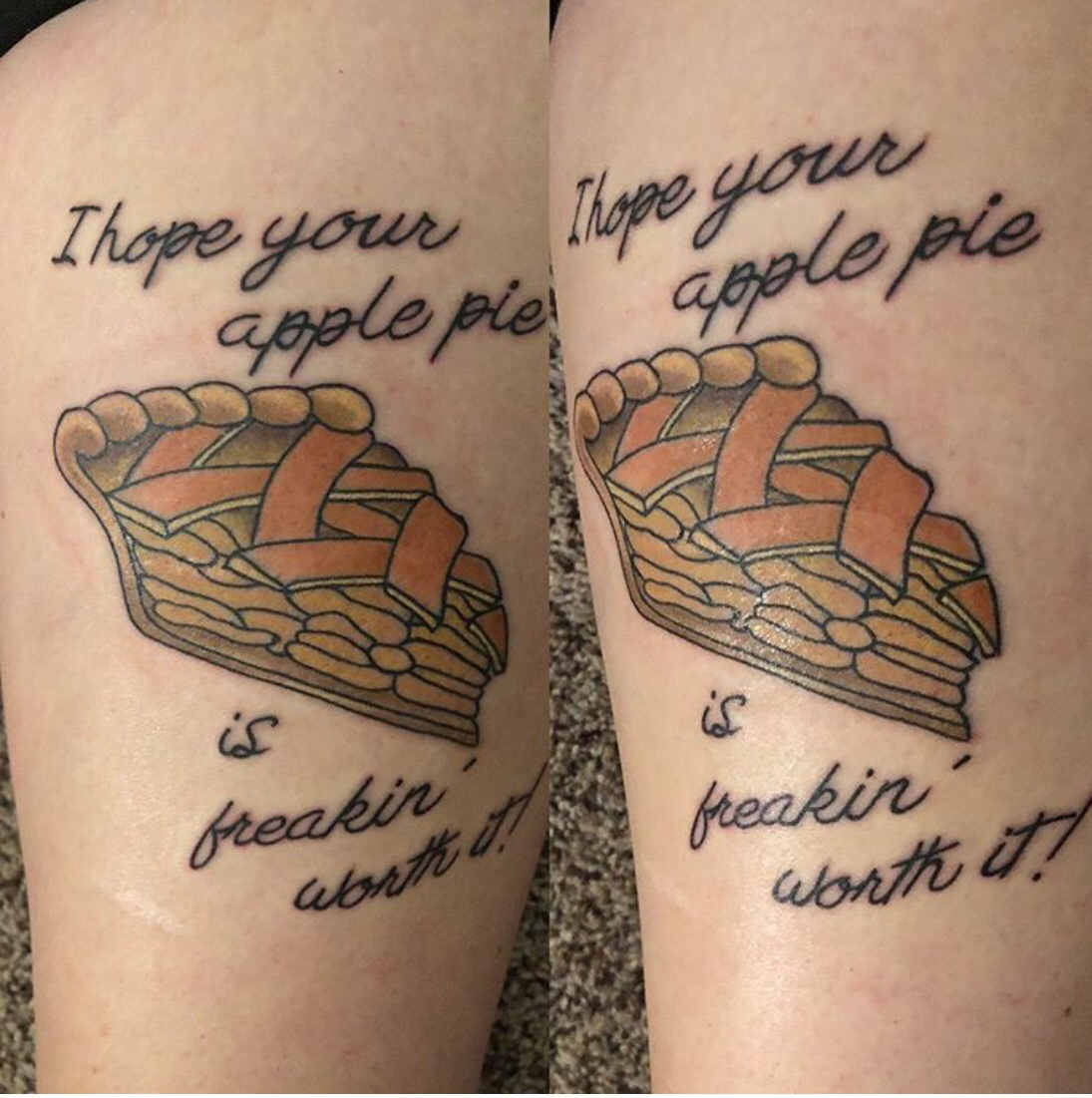I hope your apple pie is freaking worth it