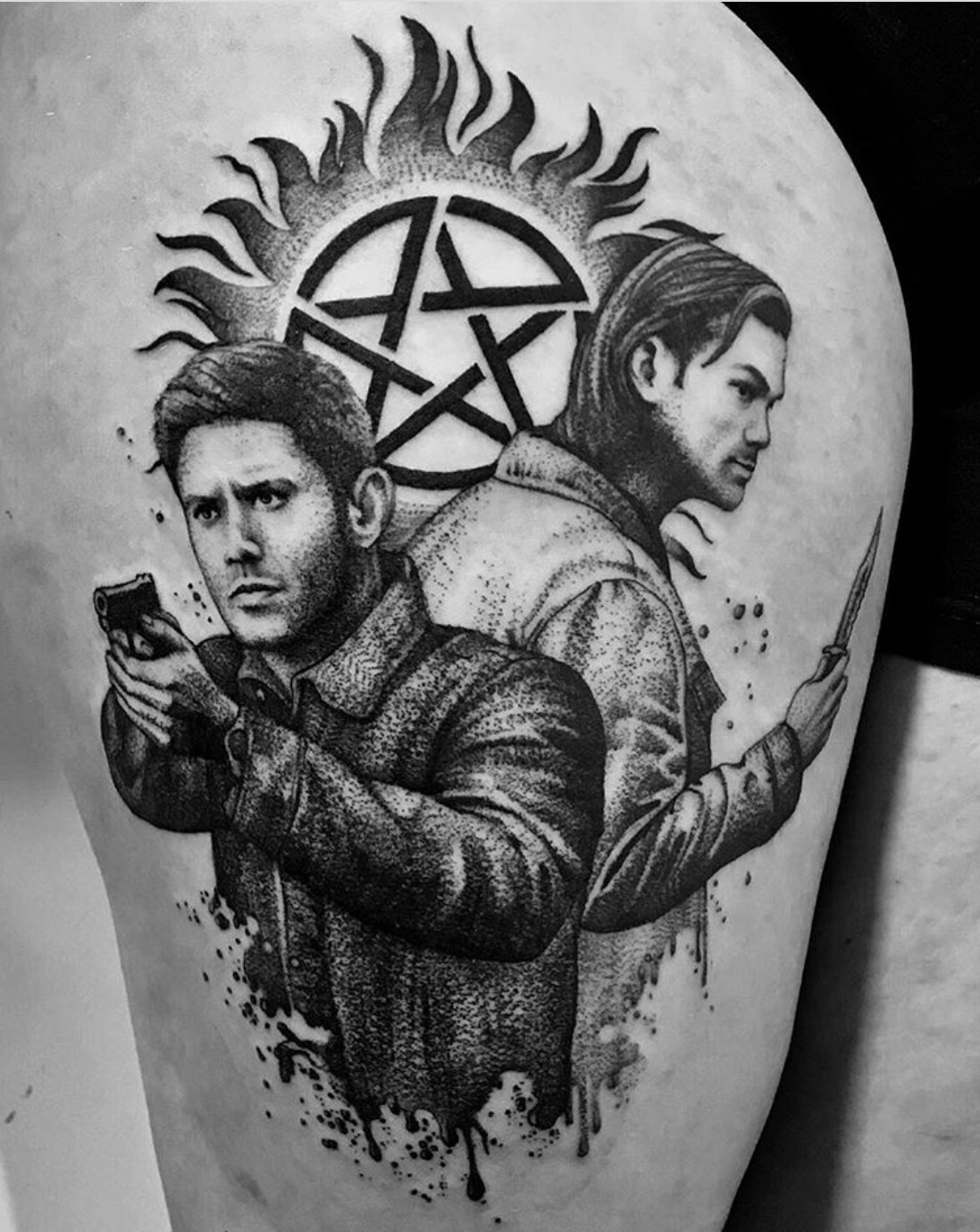 sam and dean supernatural tattoo