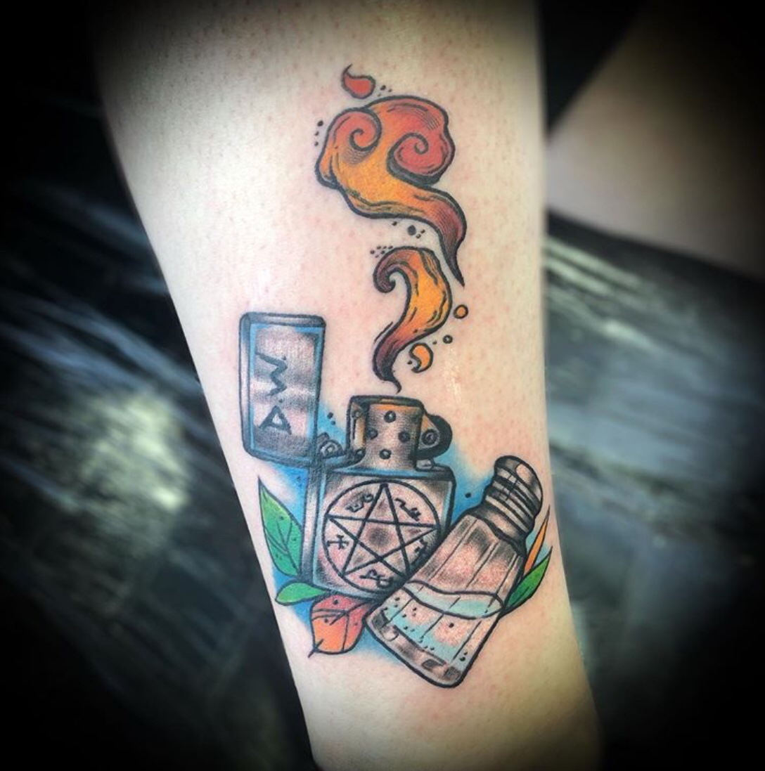 salt and burn supernatural tattoo