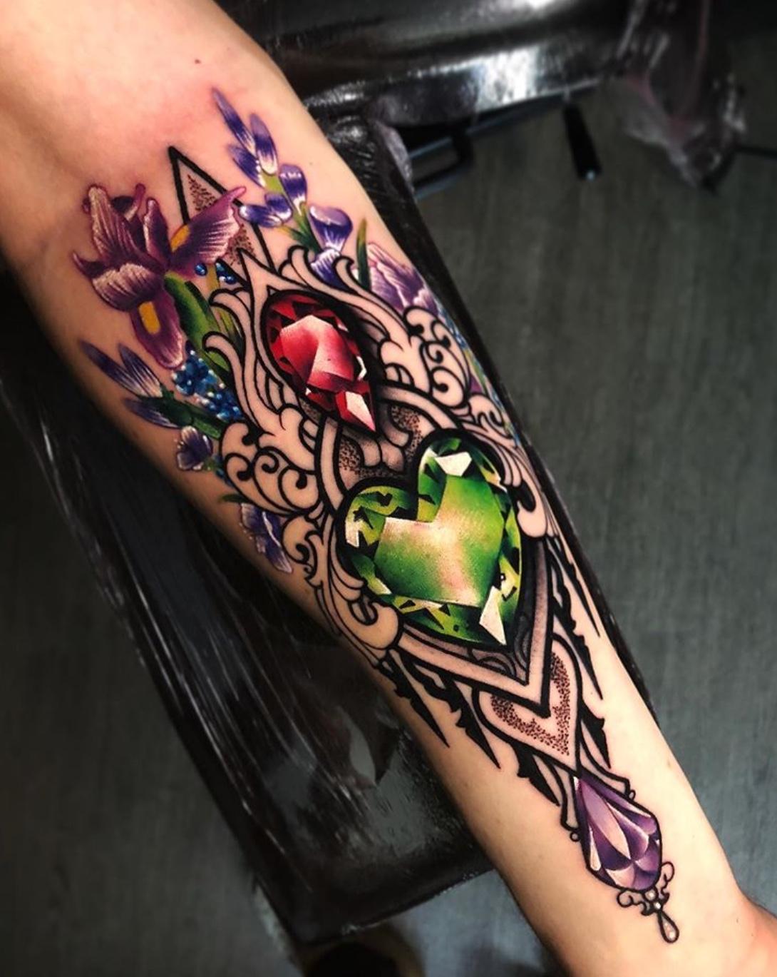 gemstone tattoos