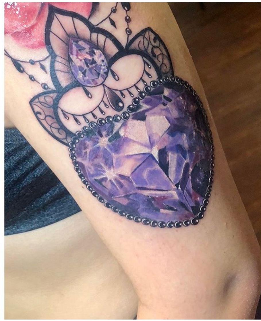 heart gem tattoo