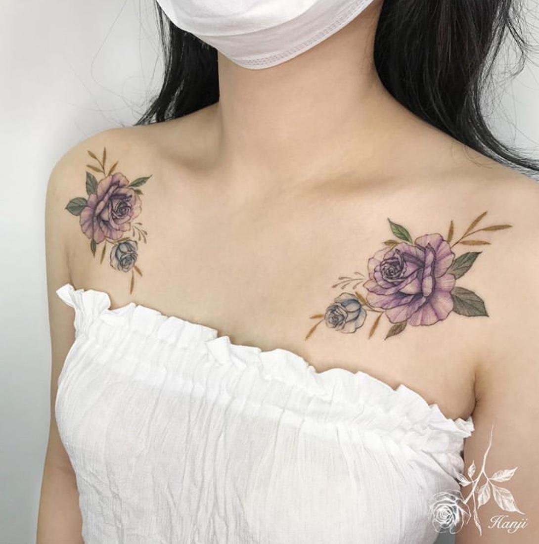 clavicle tattoo