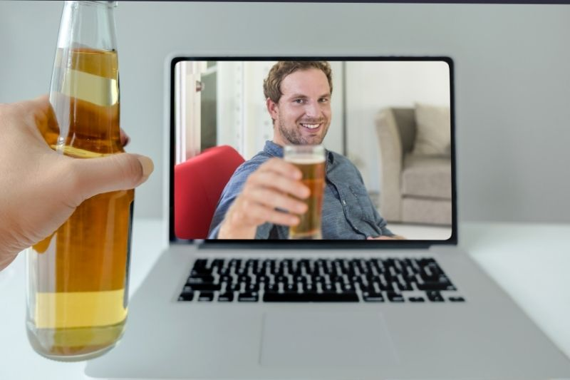 virtual happy hour date