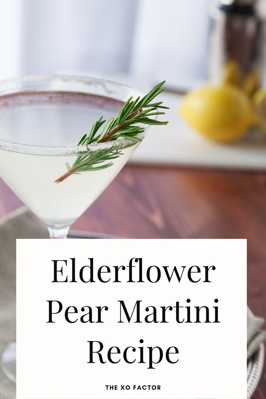 elderflower pear martini