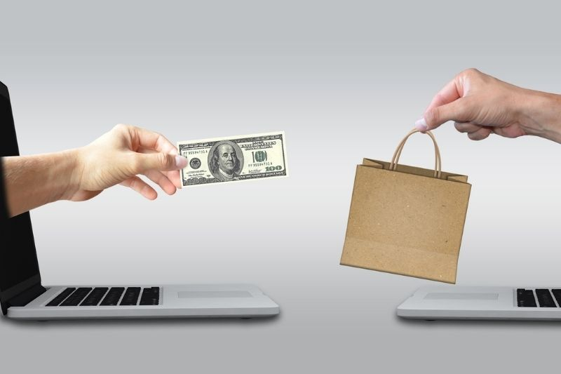 concept of selling and buying online