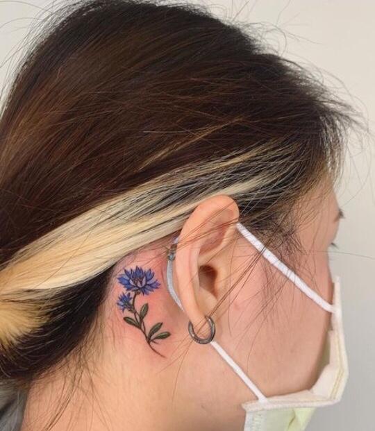 behind ear tattoo designs