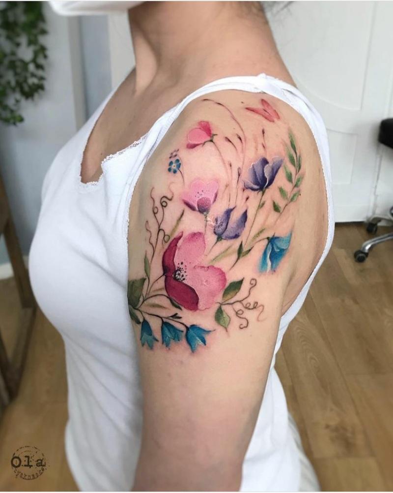 spring floral tattoo designs