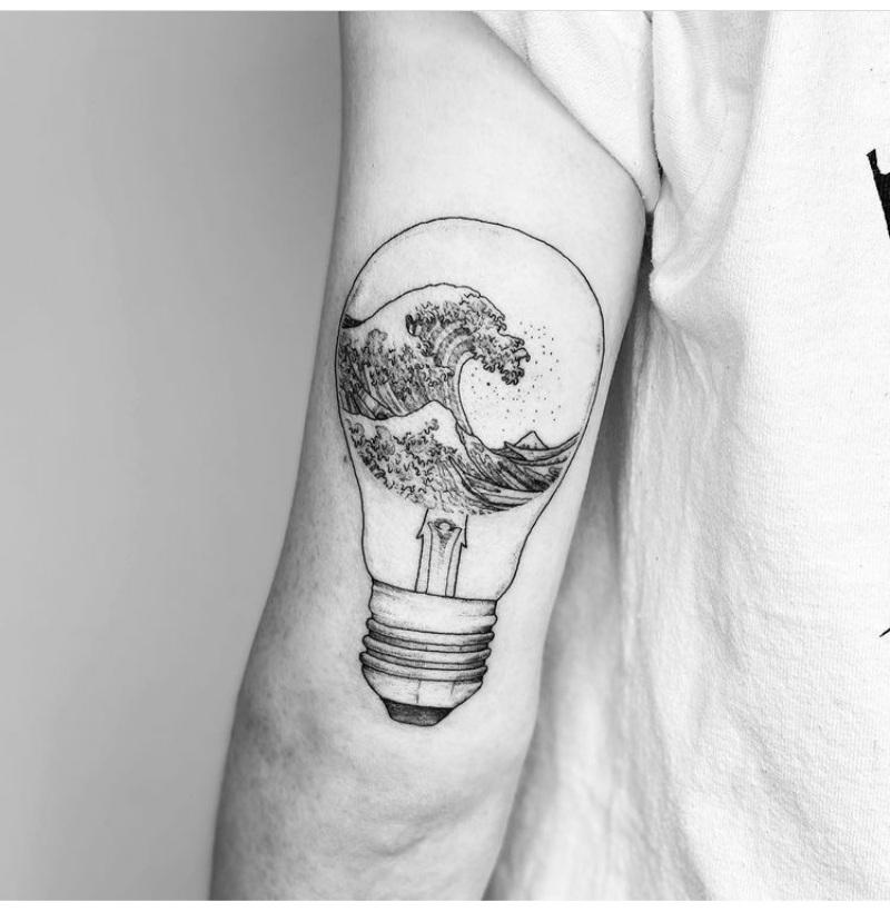 lightbulb tattoo designs