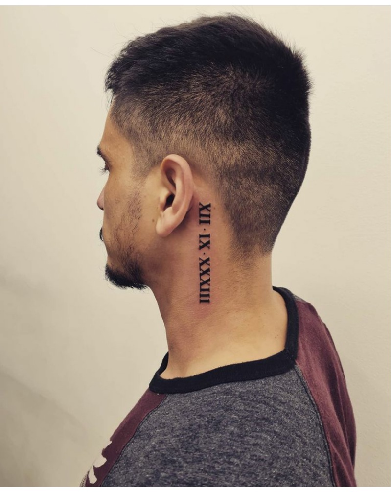 roman numerals tattoos