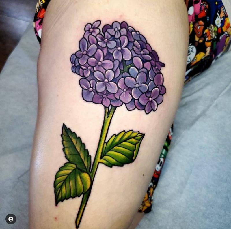 hydrangea tattoo designs